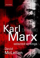 Karl Marx PDF