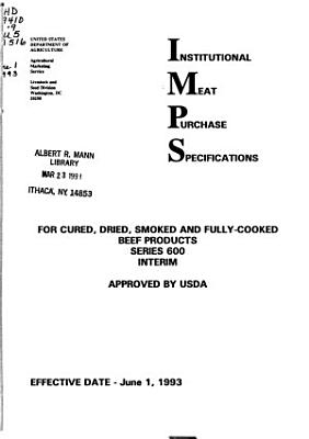 Institutional Meat Purchase Specifications for Cured  Dried  and Smoked Beef Products