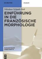 Einf  hrung in die franz  sische Morphologie PDF