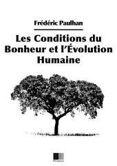 Les conditions du bonheur et l'évolution humaine