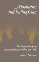 Absolutism and Ruling Class