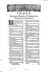 Opera omnia in sex tomos divisa: Hactenus edita auctor ante obitum recensuit, auxit, illustravit, Volume 5
