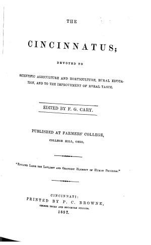 The Cincinnatus
