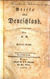 Briefe ueber Deutschland: Band 3