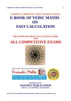 ebook of Vedic maths on Fast Calculation PDF