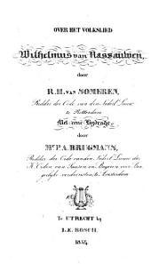 Over het volkslied Wilhelmus van Nassauwen