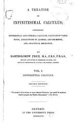 A Treatise on Infinitesimal Calculus  Differential calculus  1857 PDF