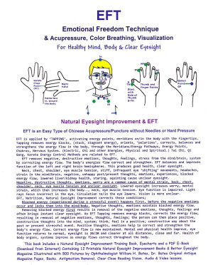 EFT  Emotional Freedom Technique and Acupressure  Color Breathing  Visualization for Healthy Mind  Body and Clear Eyesight