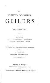 Die aeltesten Schriften Geilers von Kaysersberg