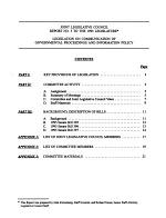 Legislation on Communication of Governmental Proceedings and Information Policy