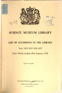 List of Accessions to the Library PDF
