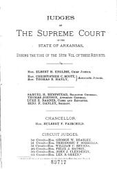 Arkansas Reports: Cases Determined in the Supreme Court of Arkansas, Volumes 19-20