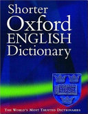 Shorter Oxford English Dictionary on Historical Principles PDF