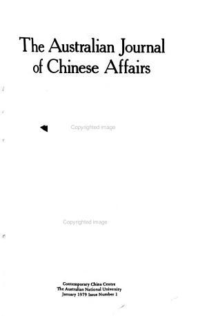 The Australian Journal of Chinese Affairs