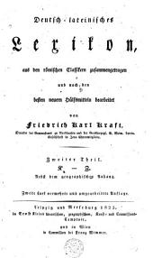Deutsch-lateinisches lexikon, aus den römisches Classikern zusammengetragen und nach den besten neuern Huelfsmitteln bearbeitet: Band 2