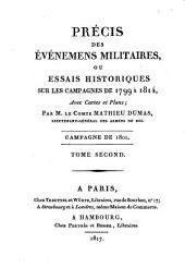 Précis des événemens militaires, ou essais historiques sur les campagnes de 1799 à 1814: Campagne de 1801 ; T. 2. 6