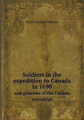 Soldiers in the expedition to Canada in 1690