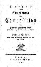Versuch einer Anleitung zur Composition: Band 3