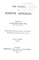 The Works of the Right Honourable Joseph Addison PDF