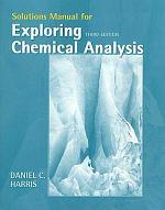 Exploring Chemical Analysis Solutions Manual