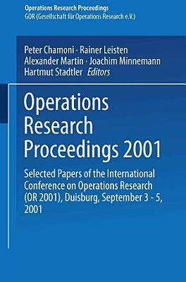 Operations Research Proceedings 2001 PDF