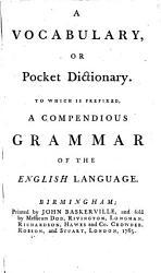 A Vocabulary Or Pocket Dictionary Book PDF
