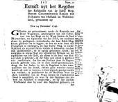 Extract uyt het register der resolutien van de [...] gecommitteerde raaden van de Staaten van Holland en Westvriesland, genoomen op den 24 december 1748
