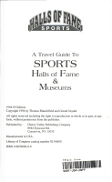 The Traveler s Guide to Sports Halls of Fame   Museums PDF