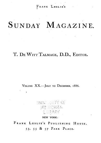 Download Frank Leslie s Sunday Magazine Book