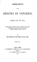 Abridgment of the Debates of Congress  from 1789 to 1856 PDF