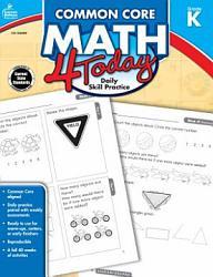 Common Core Math 4 Today Grade K Book PDF