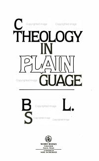 Christian Theology in Plain Language
