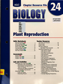 Holt Biology Chapter 24 Resource File  Plant Reproduction PDF