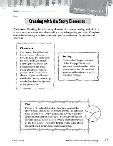 Tuck Everlasting Studying the Story Elements Book