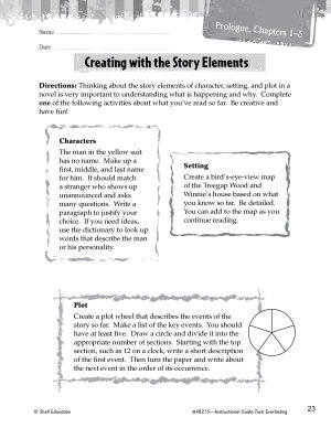 Tuck Everlasting Studying the Story Elements