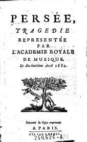 Persee tragedie representee par l'Academie Royale de Musique