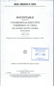 Media Freedom in China PDF