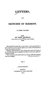 Letters, and Sketches of Sermons: Volume 1