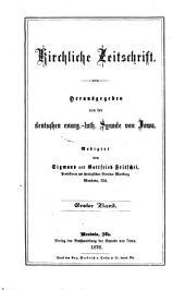 Kirchliche Zeitschrift: Volumes 1-2