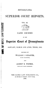 Pennsylvania Superior Court Reports: Volume 22