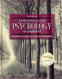 Mypsychlab   E book Student Access Code Card for Fundamentals of Psych in Context PDF
