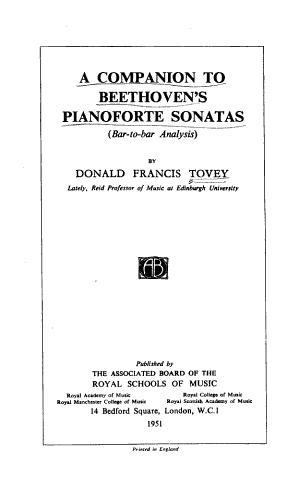 A Companion to Beethoven s Pianoforte Sonatas
