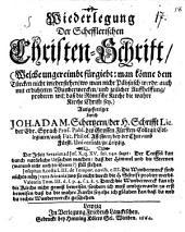 Wiederlegung der Schefflerischen Christen-Schrifft ...