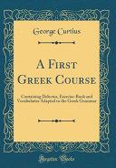 A First Greek Course PDF