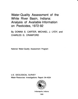 Water quality Assessment of the White River Basin  Indiana PDF
