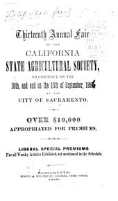 Premium List, Rules and Regulations of the California State Fair