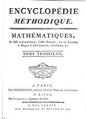Dictionnaire encyclopédique des mathématiques, par mm. d'Alembert, l'abbé Bossut [and others].