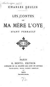 Les contes de ma mère l'Oye avant Perrault