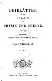 Beiblätter zu den Annalen der Physik und Chemie: Band 11