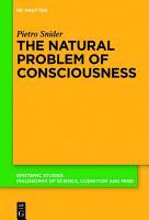 The Natural Problem of Consciousness PDF